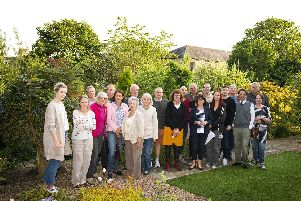 Residents in their gardens and where the three storey care home would overlook