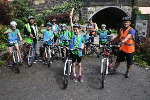 Pupils saddle up to aid clean air