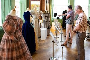 The Gentleman Jack costume exhibition opened at the Bankfield Museum in Halifax today