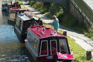 Youths have been seen throwing stones at boats in Calderdale