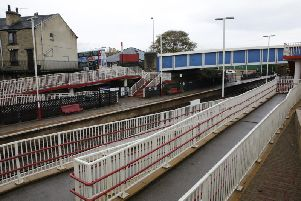 A person was killed on the railway tracks at Brighouse Station.