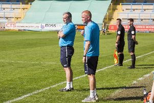Football - FC Halifax Town v AFC Fylde at The MBI Shay Stadium. Halifax manager Pete Wild.