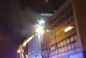 A fire has broken out at the Acapulco nightclub in Halifax (Photo/Video: Max Fearnley)