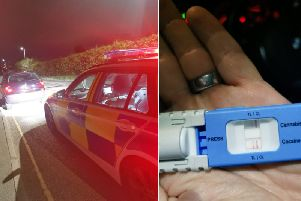 A driver failed a drugs test and was arrested by police (Picture West Yorkshire Road Policing unit)