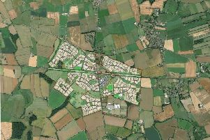 The plan for Maltilkn village, one of the developments proposed for Harrogate Borough Council's preferred area near Green Hammerton and Cattal.