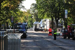 """The reopening of a major Harrogate road in the aftermath of the UCI cycling championships has been delayed to """"minimise further damage to the Stray."""""""