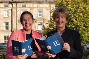 Harrogate International Festivals chief executive, Sharon Canavar; and Zoe Robinson, Raworths managing partner.
