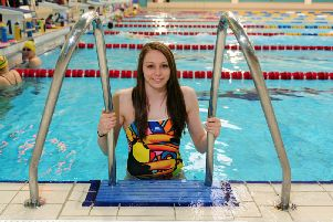 Swimmer Sophie Taylor (TJ100336i) Picture by Tony Johnson