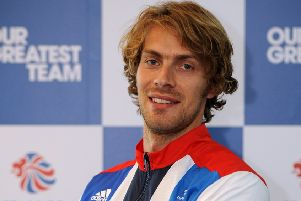 Great Britain's Chris Tomlinson during the London 2012 Kitting Out Session at Loughborough University