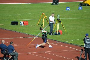 George Davies launched the javelin over 68 metres at the British Championships