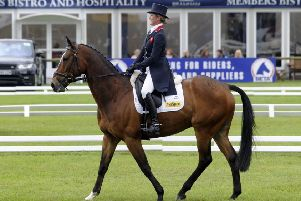 Nicola Wilson on her horse Kings Advocate II takes part in the dressage. Picture: Simon Hulme