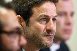 New Leeds United head coach Thomas Christiansen at Elland Road on Monday (Picture: Bruce Rollinson).