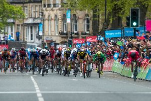 French cyclist Nacer Bouhanni, powering up the finishing straight to win the stage two of the Tour de Yorkshire in Harrogate earlier this year (Picture: James Hardisty)