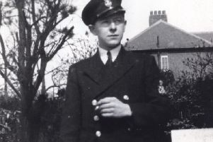 Harrogate author Jenny Holmes father Jim Lyne in his Royal Navy uniform in 1941.