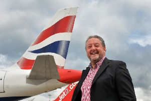 Leeds Bradford Airport's new CEO, David Laws.   Picture Bruce Rollinson