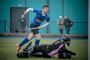 Charles Edmondson set Harrogate Mens 1s on their way to victory at Neston South Wirral. Picture: Caught Light Photography