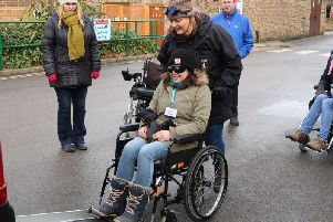 Attendees were given the opportunity to experience using both manual and powered wheelchairs