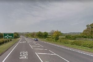 The A658 where the incident happened. Photo: Google