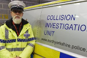 Roads Policing Inspector Dave Barf, North Yorkshire Police
