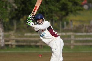 Mustahsan Ali Shah plundered a century to help Bilton secure a much-needed win. Picture: Caught Light Photography