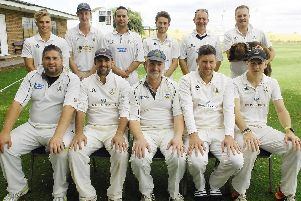 Goldsborough CC line up before Saturday's victory over title-chasing Helperby. Picture: Adrian Murray