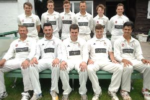 Beckwithshaw CC line up before Saturday's loss to relegation rivals Guiseley. Picture: Adrian Murray