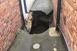 The sinkhole in Ripon