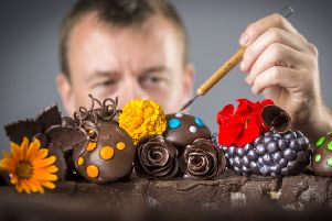 Chef-Chocolatier Ashley McCarthy.  Photo Credit: Andrew McCaren for The Harrogate Flower Show.