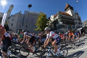 Leeds rider Sam Watson, pictured at the start of the 2018 UCI World Cycling Championships  Junior Men's Race in Kufstein.  Picture: Bruce Rollinson