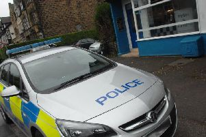 Police at the scene of an incident in Harrogate