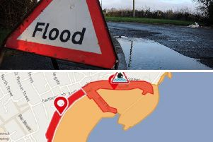 The Environment Agency has issued two Flood Warnings for the Scarborough area on Saturday night.