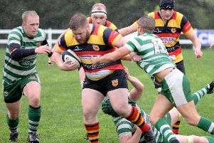 Connor Ward couldn't save Harrogate RUFC from a costly defeat at Billingham. Picture: Richard Bown