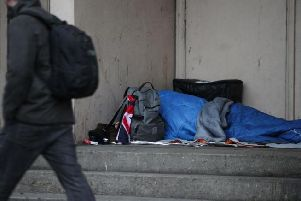 Almost 600 homeless people died in England and Wales last year.