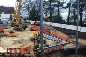 The shape of the new sixth form building is beginning to take shape