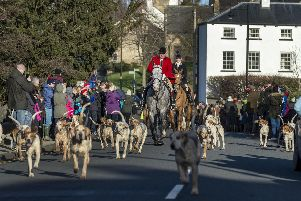 Badsworth & Bramham Moor hounds gathering in the village of Aberford for a Boxing Day hunt. Picture: James Hardisty