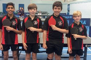 Boys through to table tennis finals