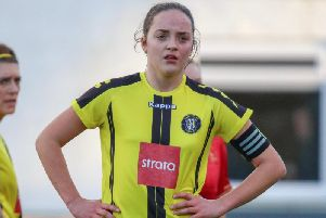 Captain Grace Foyer led by example as Harrogate Town Ladies eased to victory over Rotherham United. Picture: Matt Kirkham
