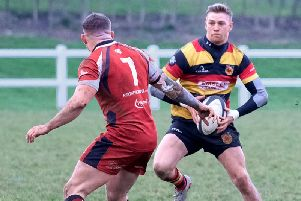 Nathan Wyman produced a man-of-the-match display as Harrogate RUFC won at Kirkby Lonsdale. Picture: Richard Bown
