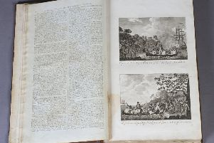 Banks' Geography c. 1797 in two vols 'The Whole World' and 'The Americas' illustrated with some of the earliest engraved plates. Estimate �800-�1.200