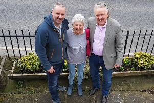 Tim Ledbetter, Ann Brett and myself at an area due to receive a Britain in Bloom makeover.