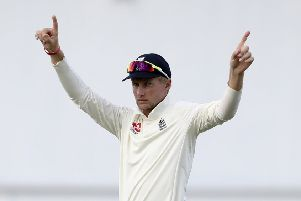 UP FOR SELECTION: England Test captain Joe Root can play in Yorkshire's first two County Championship games of 2019. Picture: AP/Ricardo Mazalan