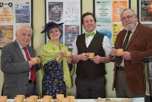 Harrogate Dramatic Society's new touring production Let Us Entertain You will be visiting venues across the district. Pictured: Cllr Jim Clark, Alex Bird as Cllr Emma Pearce, Stuart Hutchinson as Gosforth and Cllr Geoff Webber.