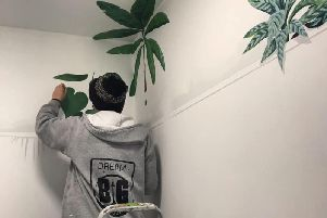 Inside Harrogate's newest bar as the by Dream Big murals team get the walls just right for opening night.
