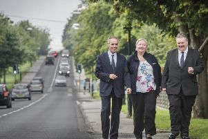 Tackling Harrogate traffic congestion - North Yorkshire County Coun Don Mackenzie, the executive member for access, pictured on the left