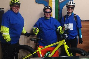Team Tracey at the Acorn Centre before setting off.