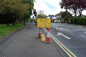 The sign spelling problems for Harrogate motorists.