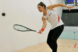 Jenny Duncalf at Harrogate Squash Club.