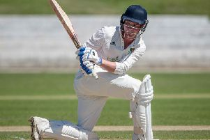 Harrogate CC batsman Harry Stothard scored a half-century in a losing cause. Picture: Caught Light Photography