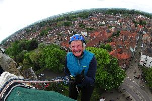Dozens of brave souls took part in the charity abseil.