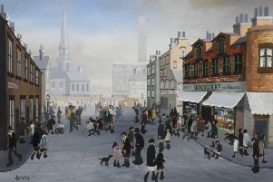 'Kinder Street' by Brian Shields Braaq, estimated at �8,000-�10,000.